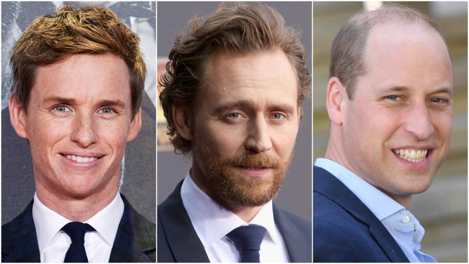 <p><b>Еди Редмейн, Том Хидълстън и принц Уилям</b></p>  <p>Тримата са били съученици в престижния колеж &bdquo;Итън&ldquo; в Уиндзор, Англия.</p>