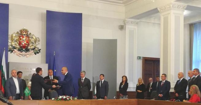 Подписан беше договорът за доставка на необходимите материали за Турски