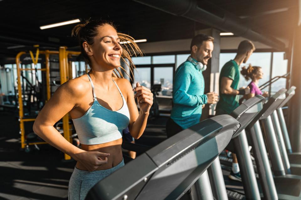 жена фитнес спорт