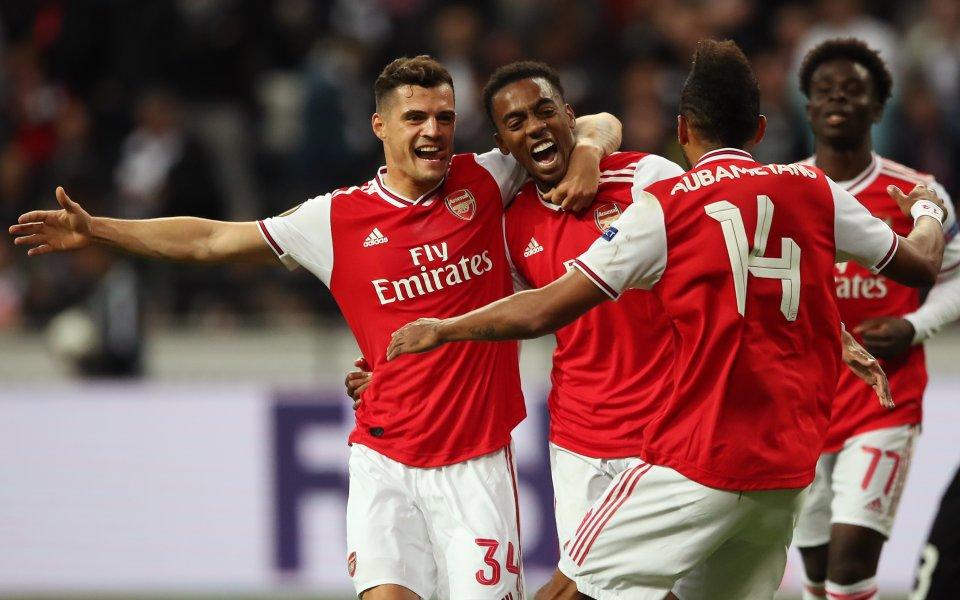 Арсенал постигна убедителна победа с 3:0 при гостуването на Айнтрахт