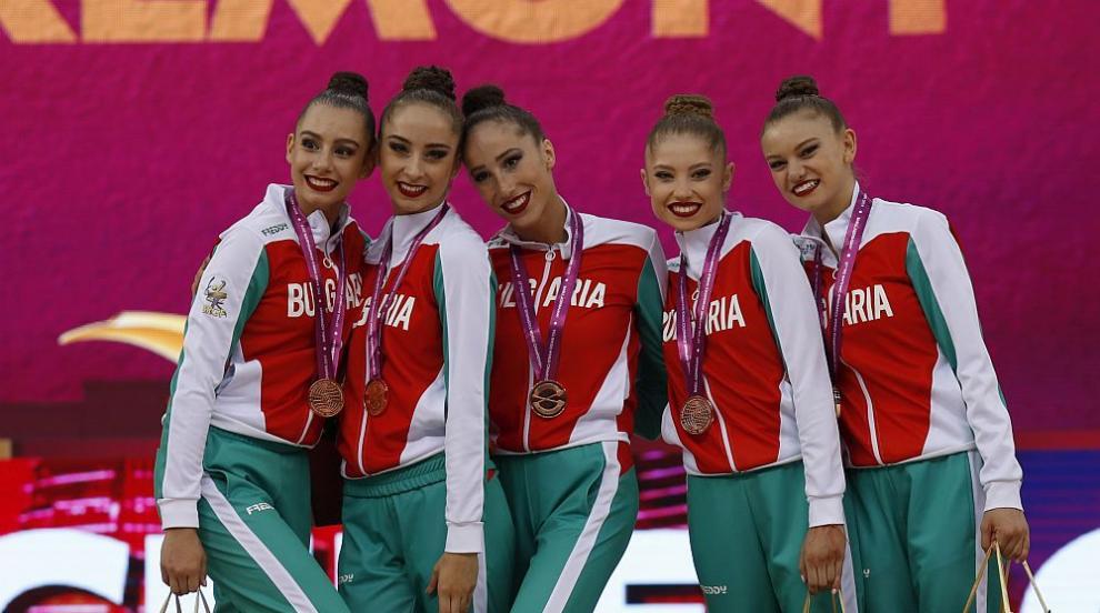 Сребро за ансамбъла по художествена гимнастика от Световното в Баку...