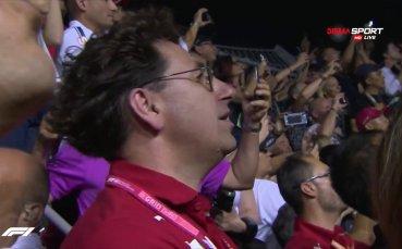 Шампанско окъпа двойния успех на Ферари в Сингапур