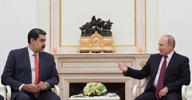 Президентът на Русия Владимир Путин прие днес президента на Венецуела