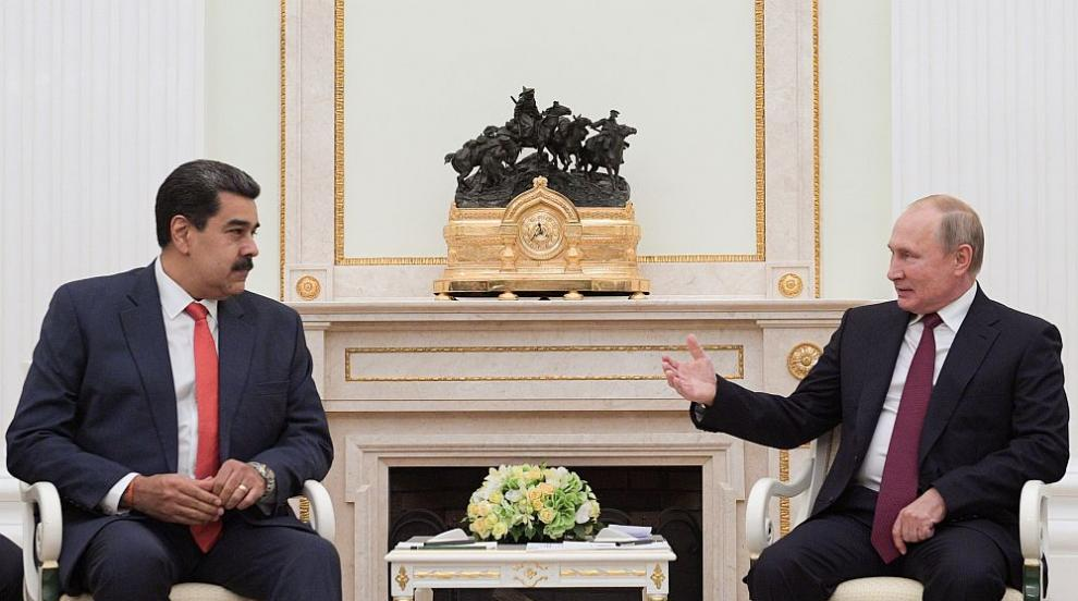 """Путин прие Мадуро в знак на подкрепа за неговата """"законна власт"""" във..."""