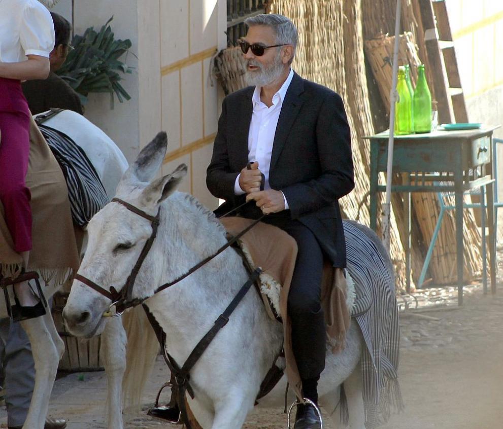 Джордж Клуни на муле