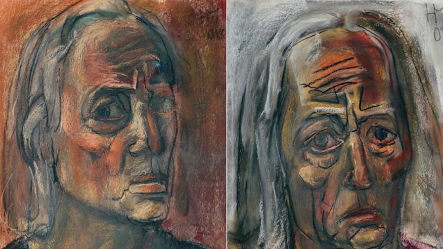 """Част от изложбата """"Портрети"""" на Николай Майсторов"""