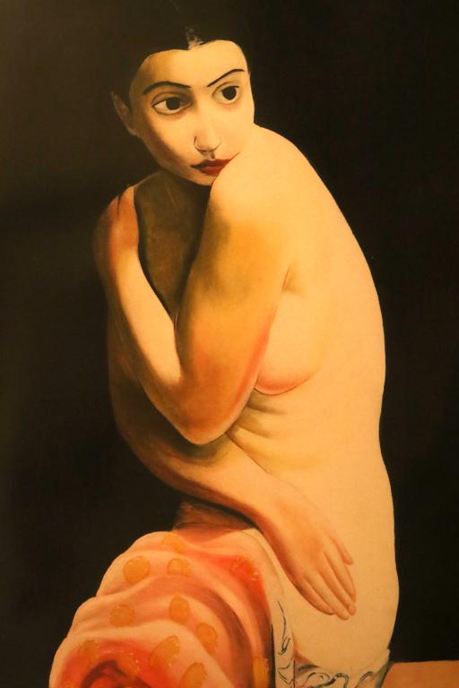 <p>Моис Кислинг, Франция. Голо тяло, цветна литография</p>