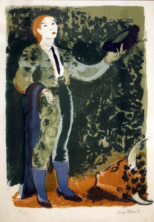 <p>Кристиан Кайар, Франция. Тореадор, цветна литография</p>