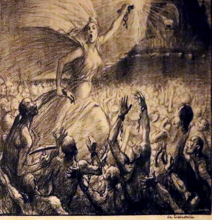 <p>Теофил-Александър Стайнлен, Франция. Свободата, литография</p>