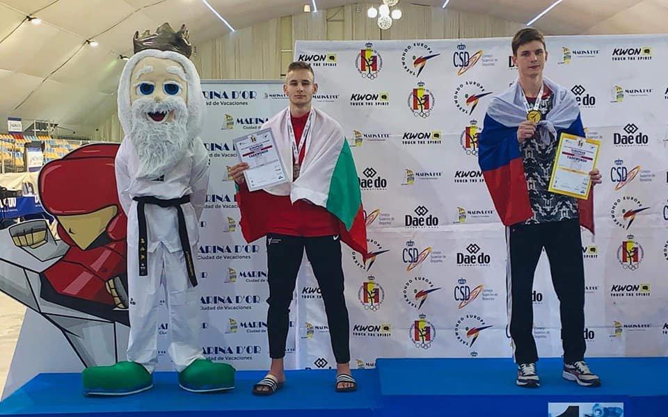 Александър Джорджев стана втори в Европа със счупен пръст