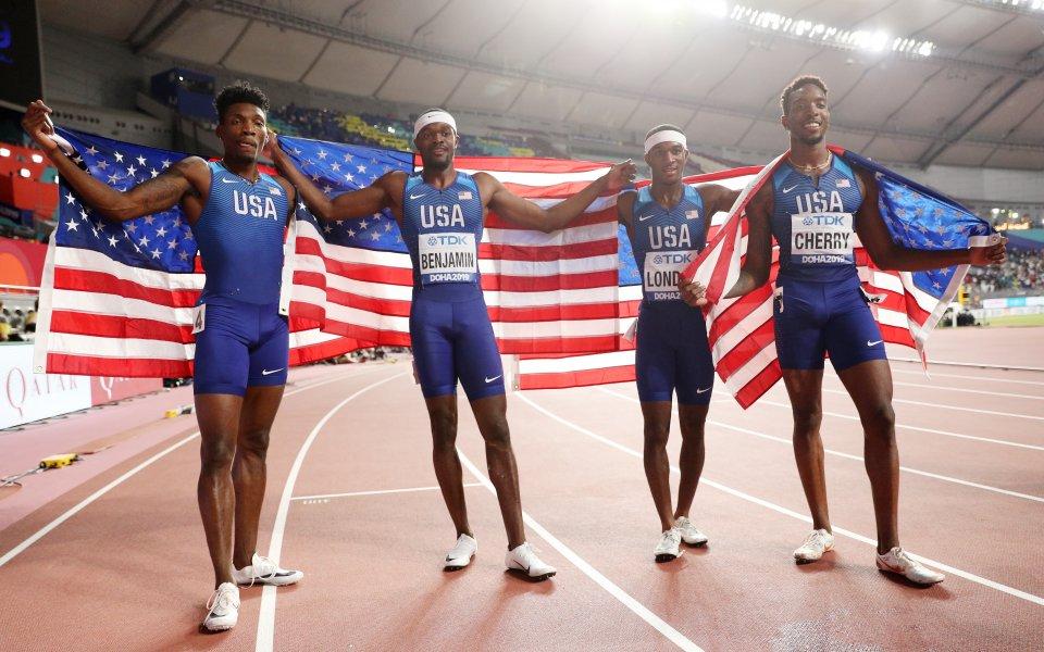 САЩ взе и щафетата 4 по 400 метра при мъжете