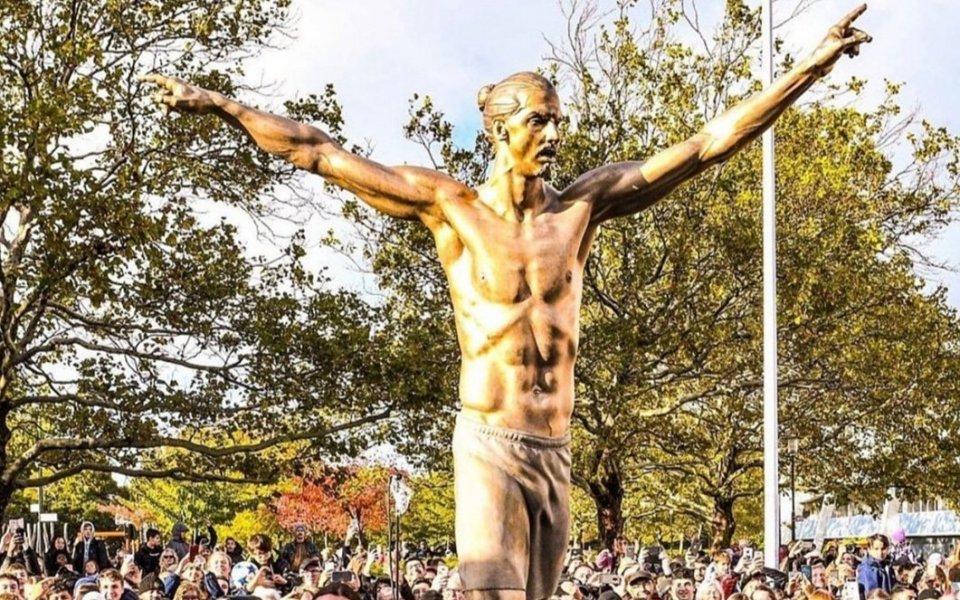 Откриха бронзова статуя на Ибра в Малмьо