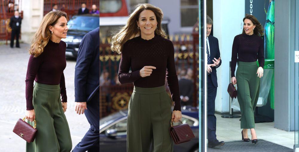 Херцогинята на Кеймбридж Кейт грее в цветовете на есента