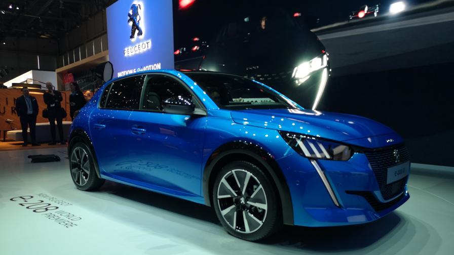 Архив: Peugeot e-208 на Автомобилен салон Женева 2019.