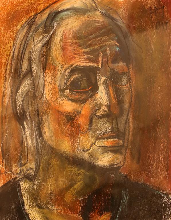 <p>Автопортрет IV, сух пастел, хартия</p>