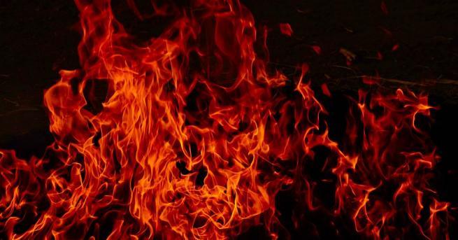 Пожар е горял на хълма Трапезица във Велико Търново през