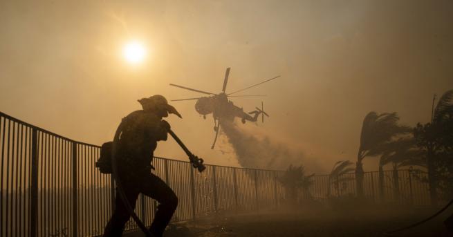 Около 100 000 души са евакуирани в Калифорния заради пожарите,