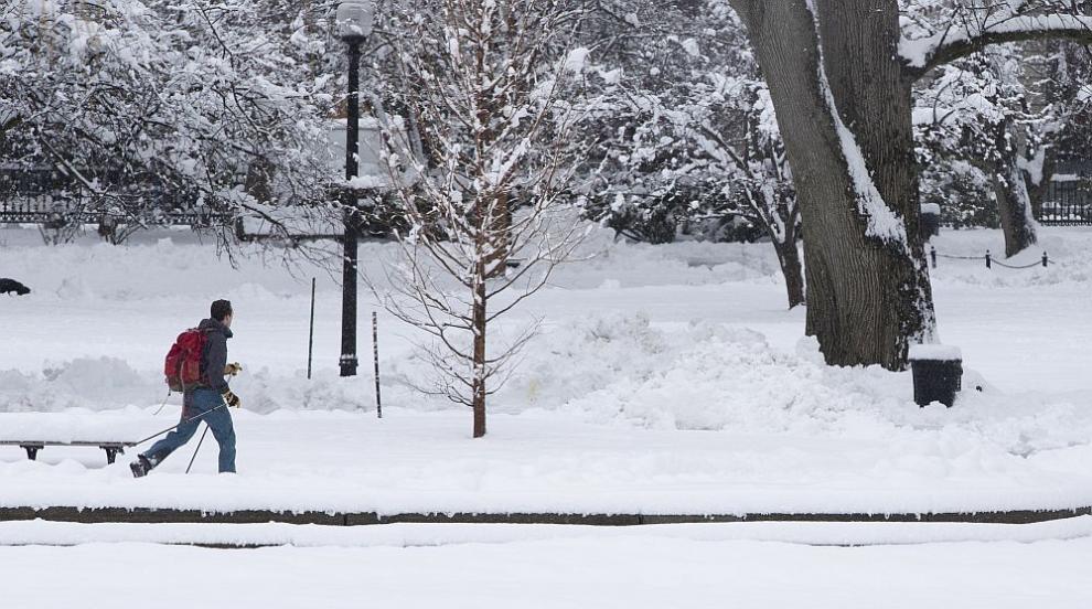 Снегът във Франция взе жертва, хиляди останаха без ток (СНИМКИ/ВИДЕО)