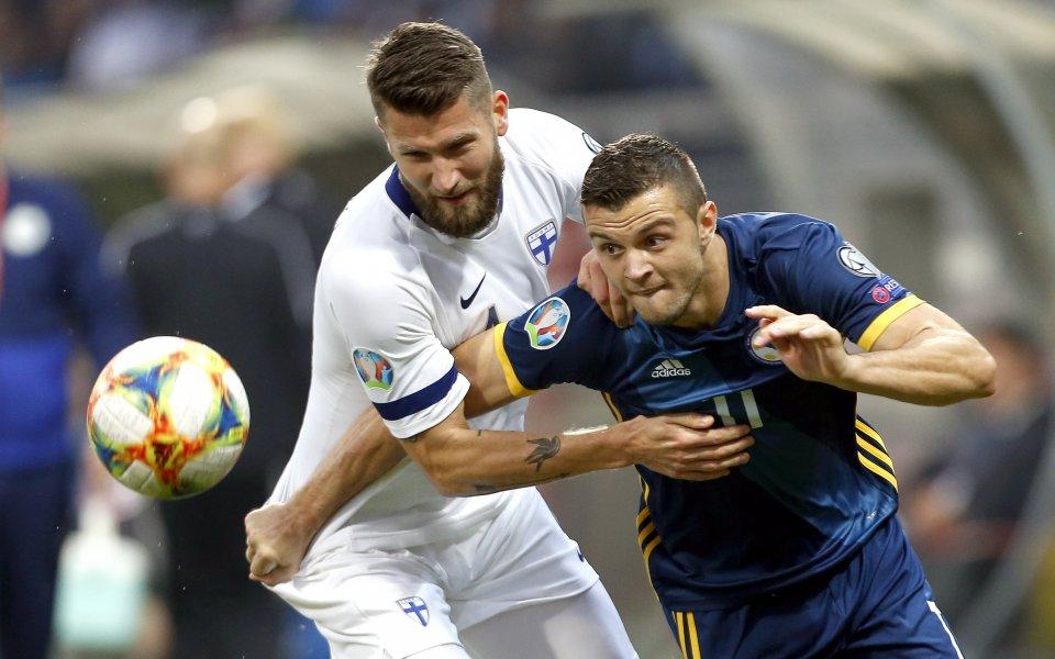Снимка: Босна със солиден успех над Финландия, мечтае за Евро 2020
