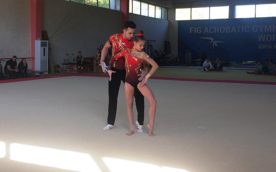 Смесената двойка на България по спортна акробатика Мариела Костадинова и