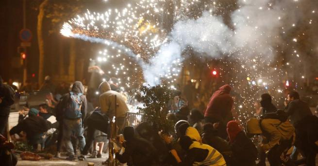 Мирна демонстрация на привърженици на независимостта на испанската област Каталуния