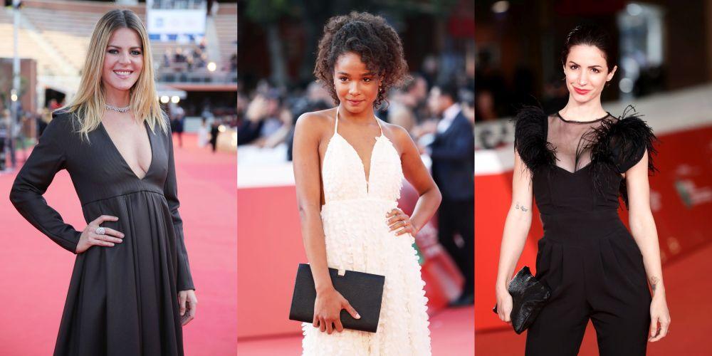 Известни актриси от цял свят стъпиха на червения килим в италианската столица Рим, облечени в стилни тоалети в черно и бяло