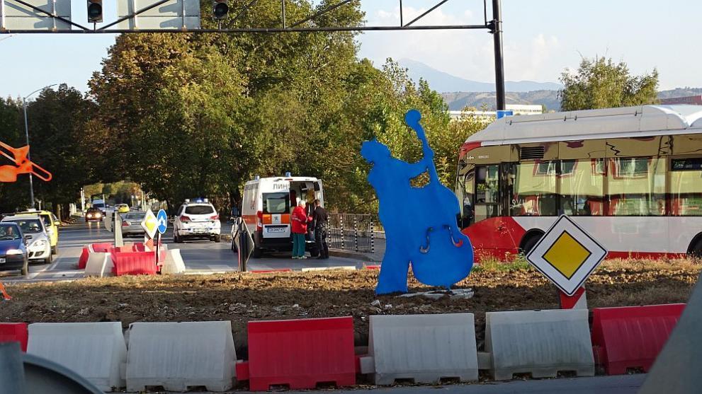 инцидент пешеходна Благоевград
