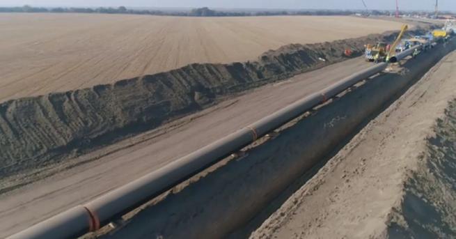 Първи кадри от строителните дейности на разширението на газопреносната мрежа