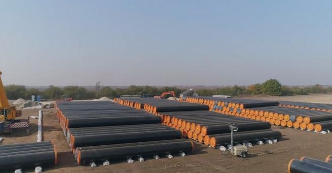 """Първи кадри от строителните дейности по изграждането на газопровода """"Балкански"""