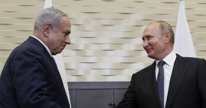 Руският президент Владимир Путин поздрави по телефона израелския премиер Бенямин