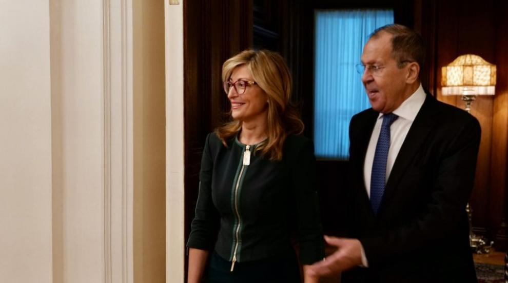Захариева и Лавров обсъдиха икономическото сътрудничеството между...