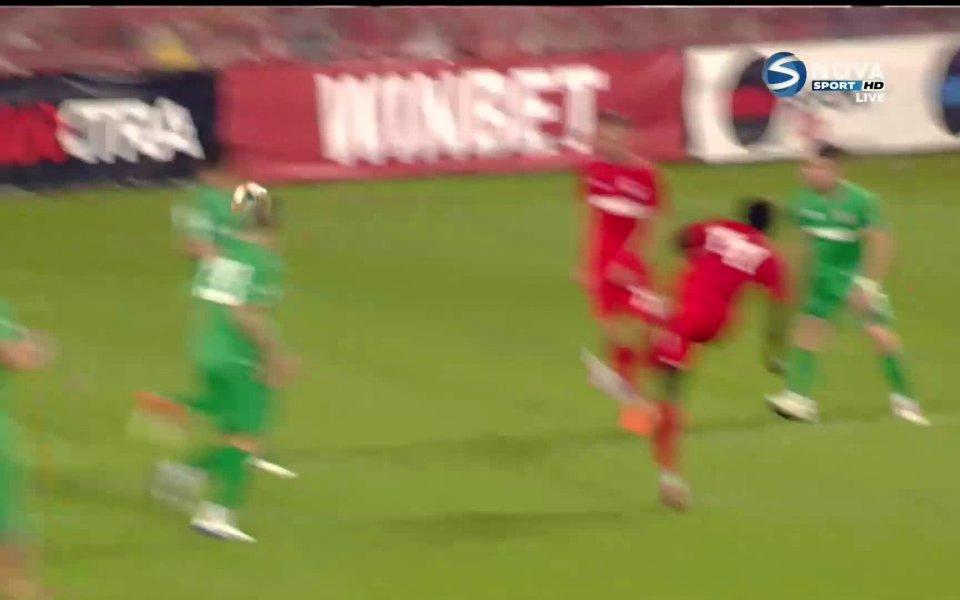 Родни Антуи направи резултата 3:0 в полза на Царско село