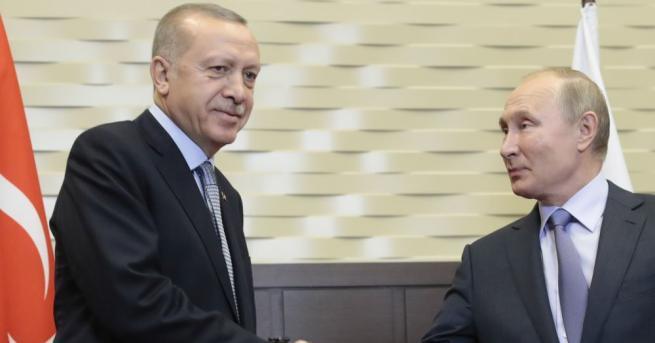 Турският президентРеджеп Тайип Ердоган се срещна с руския си колега