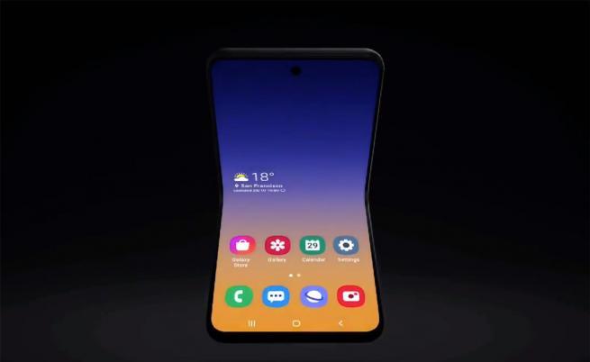 Samsung демонстрира част от новия си сгъваем телефон
