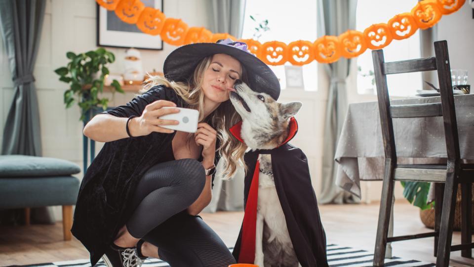 жена куче Хелоуин