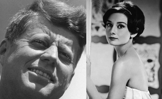 Тайната любов на Джон Кенеди и Одри Хепбърн