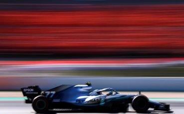 Ботас най-бърз в сутрешната сесия в Барселона