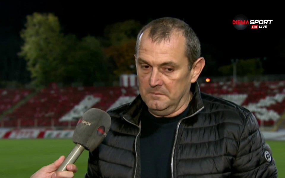 Старши треньорът на Славия Златомир Загорчич остана доволен от играта