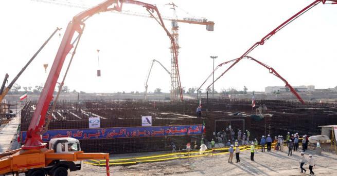 Иран започна да налива бетон в основите на втори ядрен