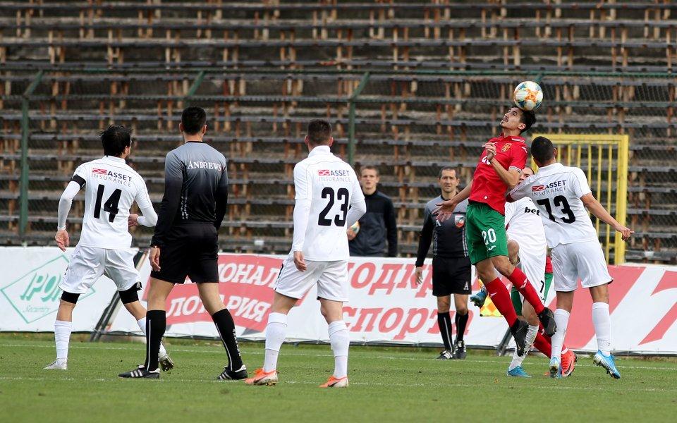 Славия и България U21 завършиха 3:3 в контролна среща, която