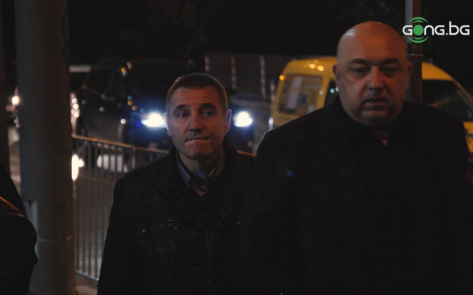 Спортният министър Красен Кралев и наставникът на Лудогорец Станислав Генчев