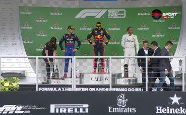 Ферстапен изпи шампионското шампанско в Бразилия