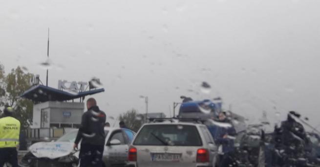 Катастрофа с три коли между между Варвара и Септември. Инцидентът