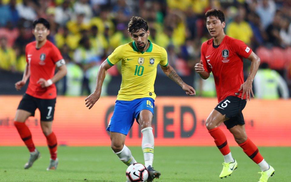 Бразилия спечели с 3:0 срещу Южна Корея в контрола, играна