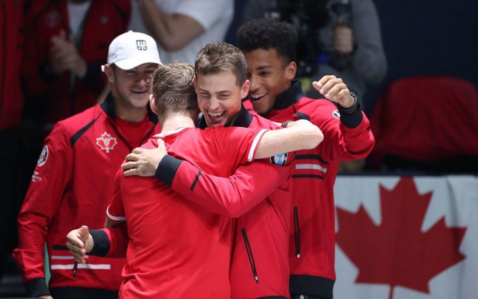 """Канада стана първият 1/4-финалиств новия формат на Купа """"Дейвис"""", неофициално"""
