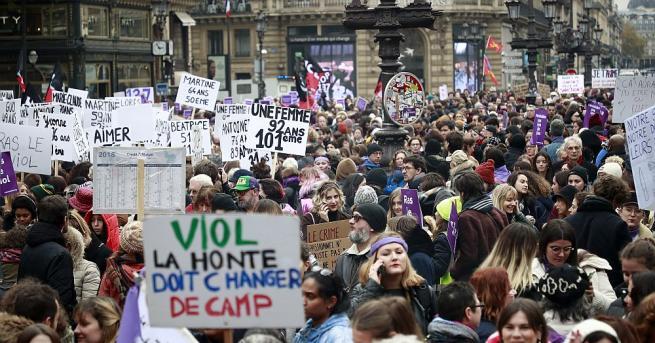 Хиляди демонстранти днес излязоха днес по улиците на Франция, за