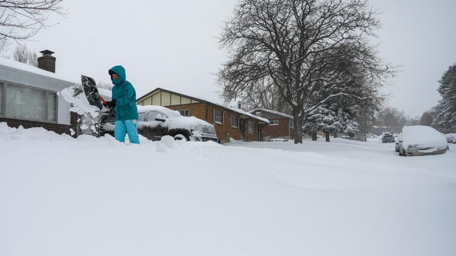 Снежни виелици за един от любимите празници в САЩ