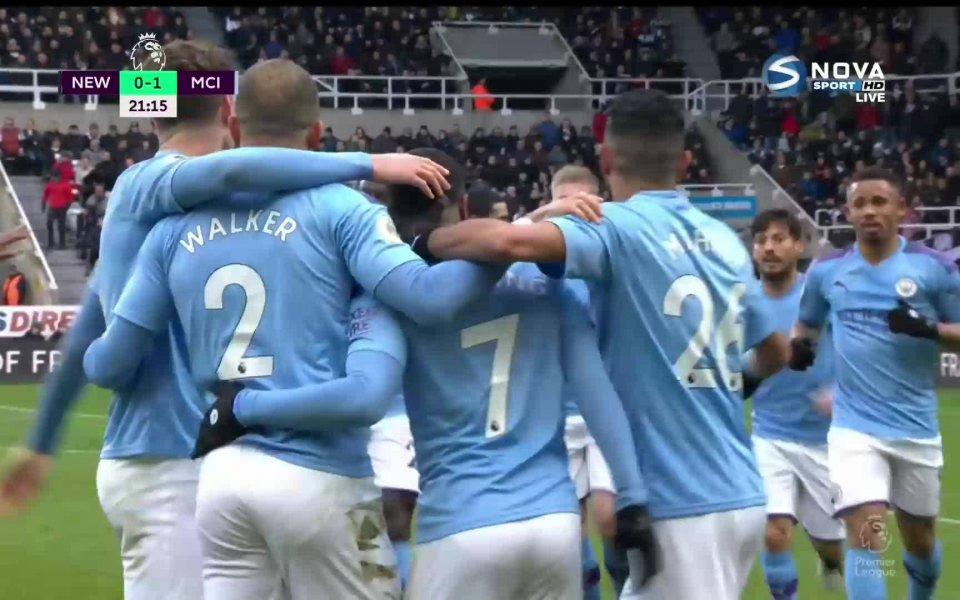 Отборът на Манчестър Сити поведе с 1:0 като гост на