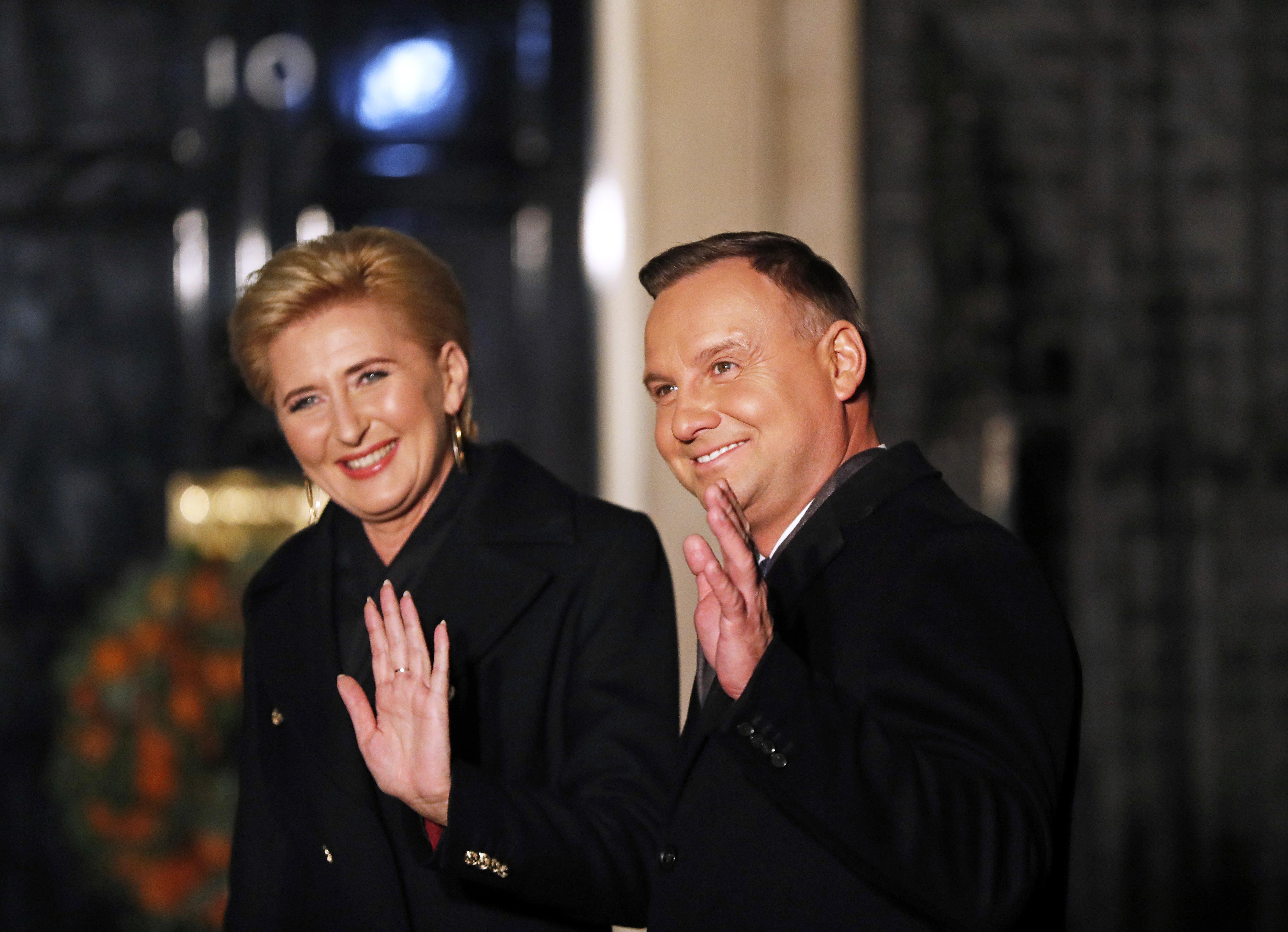 <p>Президентът на Полша - Анджей Дуда и съпругата му</p>  <p>&nbsp;</p>
