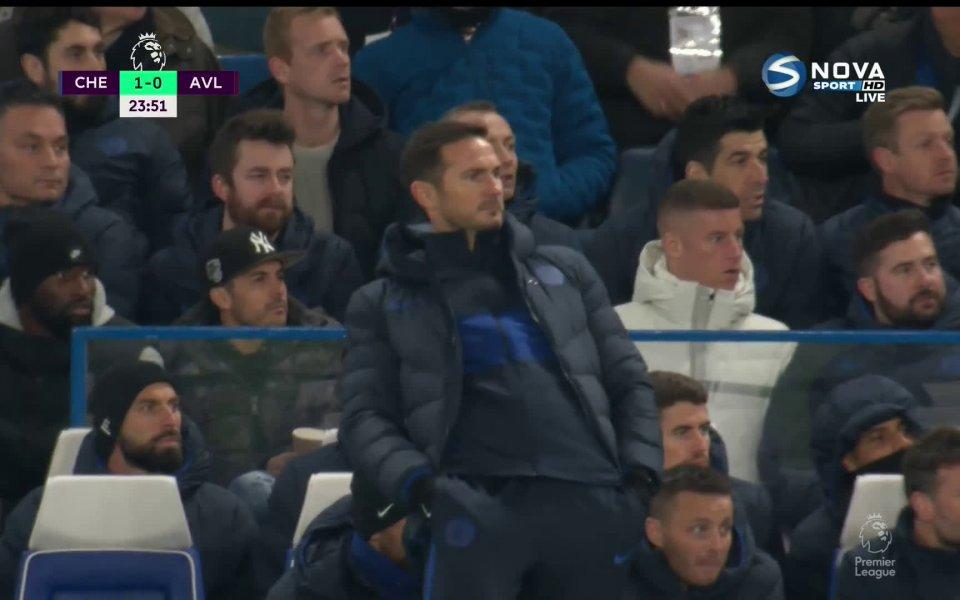 """Челси спечели с 2:1 срещу Астън Вила на своя """"Стамфорд"""